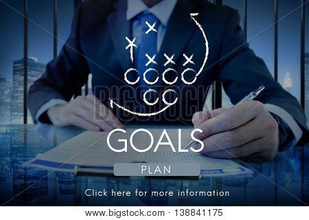 Goals Aim Aspiration Believe Inspiration Target Concept