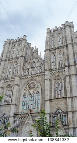 The Central Library on Kyung Hee University's in Seoul, Gothic Castle, Gothic architecture
