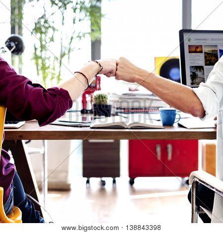 Colleagues Achievement Business Casual Office Concept