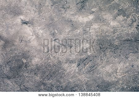 Grey grunge textured wall. Concrete background. Copy space