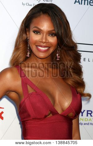 LOS ANGELES - JUL 16:  Crystle Stewart at the HollyRod Presents 18th Annual DesignCare at the Sugar Ray Leonard's Estate on July 16, 2016 in Pacific Palisades, CA