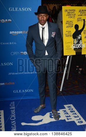 LOS ANGELES - JUL 14:  Nick Cannon at the Gleason LA Premiere Screening at the Regal 14 Theaters at LA Live on July 14, 2016 in Los Angeles, CA
