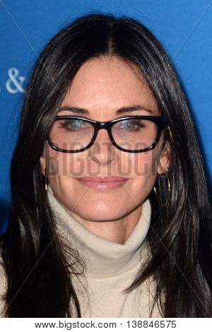 LOS ANGELES - JUL 14:  Courteney Cox at the Gleason LA Premiere Screening at the Regal 14 Theaters at LA Live on July 14, 2016 in Los Angeles, CA