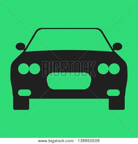 Car Flat Icon On Background. Vector Illustration. Isolated.