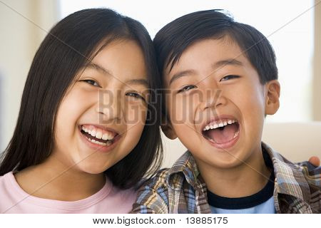 Brother And Sister Laughing