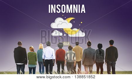 Insomnia Disorder Problem Ilness Sleep Concept