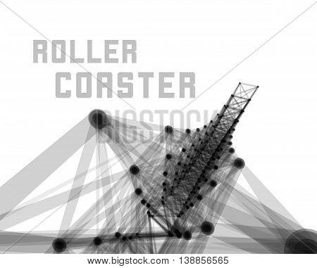 Roller coaster vector illustration on white background
