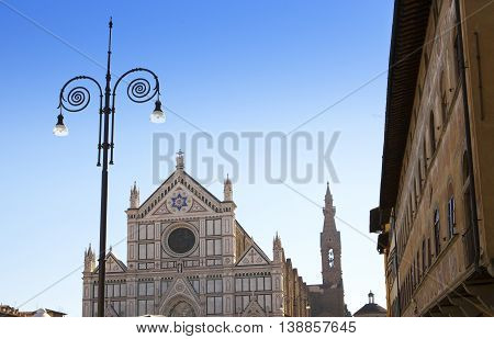 Santa Croce cathedral . Florence Italy .