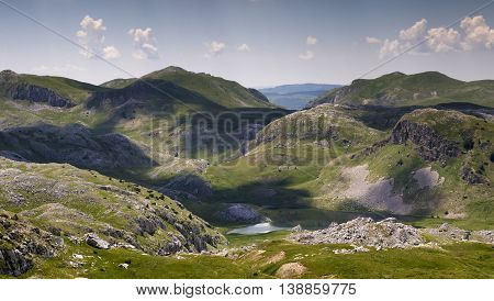 Kotlanicko lake in Sutjeska national park Zelengora mountain