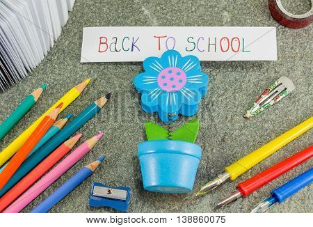 Back To School Note In A Paper Holder