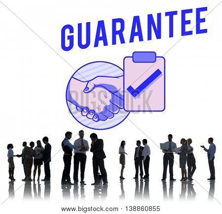 Business Contract Partnership Handshake Tick Concept