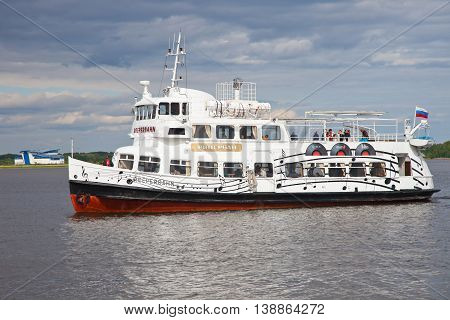 Kronstadt. The Reeperbahn ferry - floating rock club. The vessel on which The Beatles and Rolling Stones once floated.
