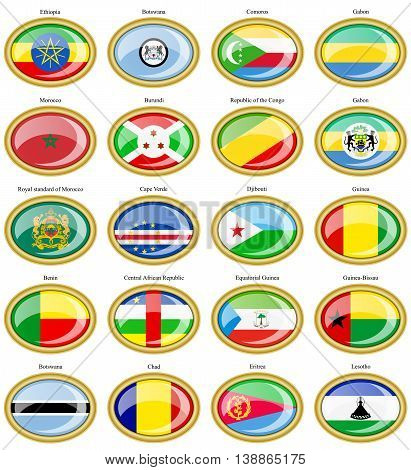 Flags Of The Africa