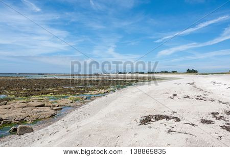 coastal scenery around Penmarch in the Finistere department in Brittany France