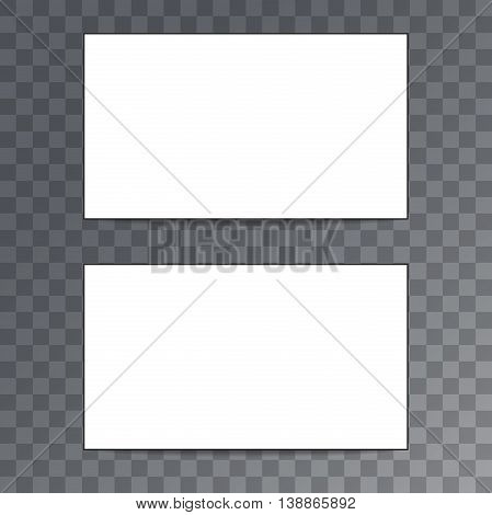 Empty template business card isolated on transparent background. Vector EPS10 illustration.