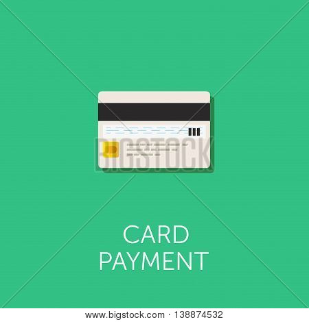 Vector Credit Cards Icon. Reverse side of the bank card with magnetic stripe and CVC code. Card payment illustration. Flat style design