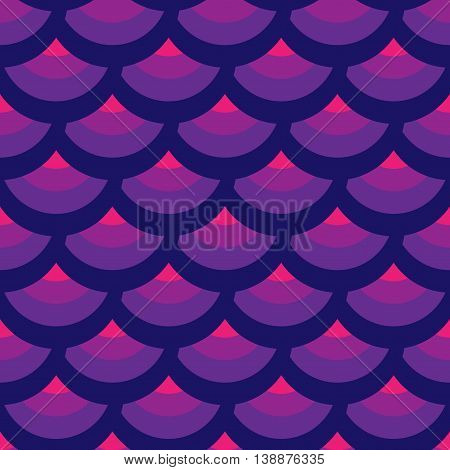 Half-round geometric seamless pattern. Fashion graphic background design. Modern stylish abstract color texture. Template for prints textiles wrapping wallpaper website Stock VECTOR illustration