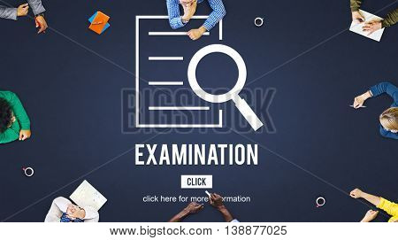 Examination Results Discovery Investigation Concept