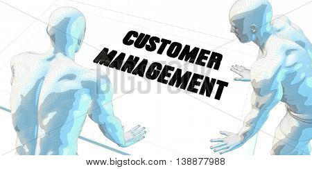 Customer Management Discussion and Business Meeting Concept Art 3D Illustration Render