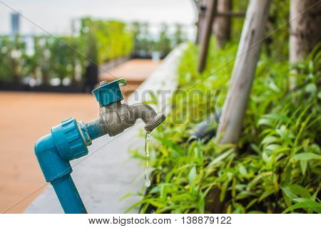 Tap water is not completely closed in garden