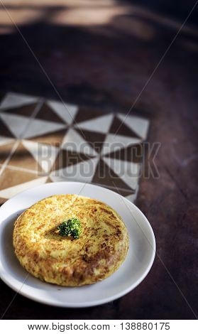 spanish tortilla egg omelette traditional tapas snack rustic style food