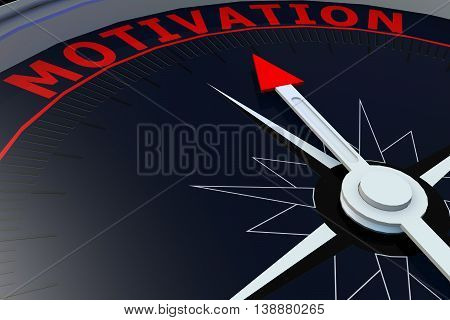 Black Compass With Motivation Word On It