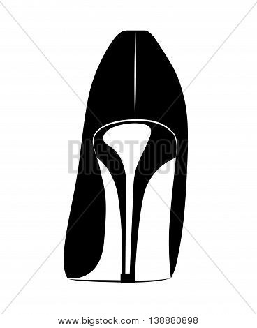 beautiful fashion heel isolated icon design, vector illustration  graphic