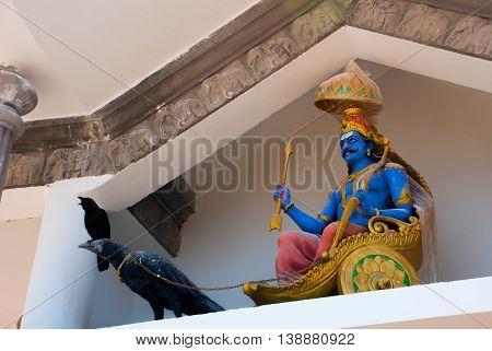 Sculpture. Architectural Detail. Karnataka, India