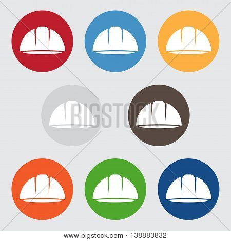 Set Of Abstract Icon Vector Design Template Of Worker Helmet