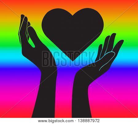 Hands Heart Vector