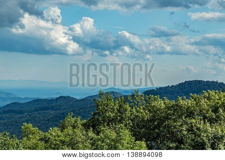 A view of the North Carolina countryside from the Blue Ridge Parkway