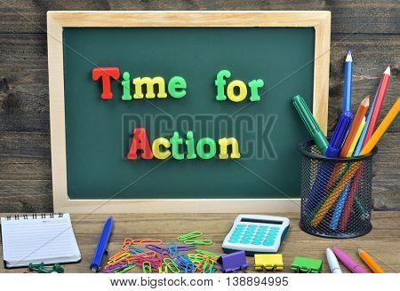 Time for action word on school board