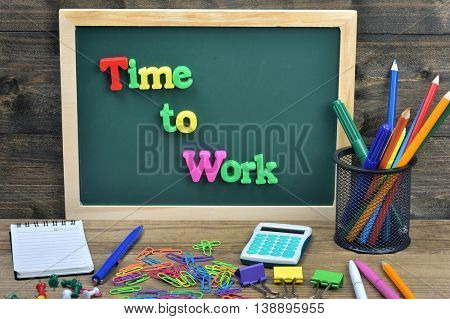 Time to work word on school board