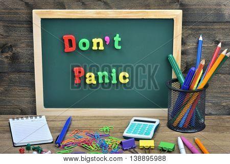 Don't panic word on school board
