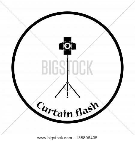 Icon Of Curtain Light