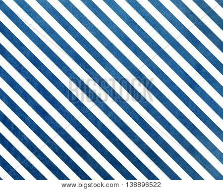 Watercolor Dark Blue Striped Background.