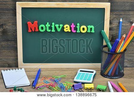 Motivation word on school board