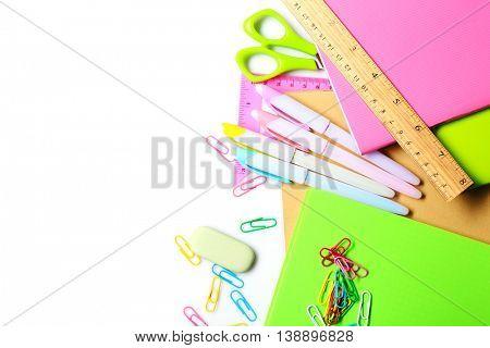 Set of stationery isolated on white