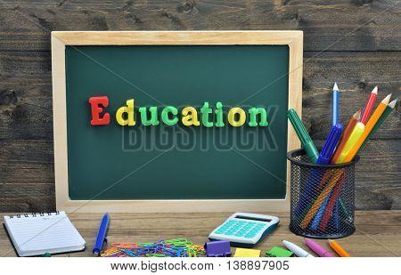 Education word on school board