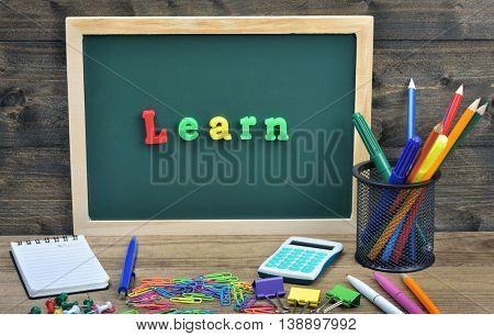Learn word on school board