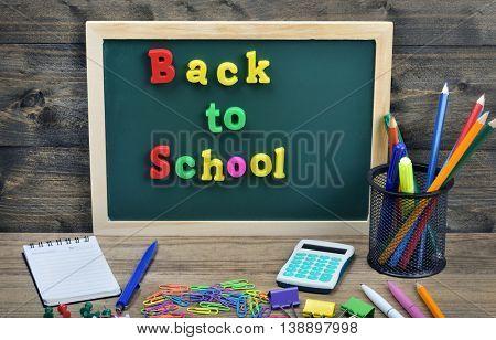 Back to school word on school board