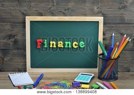 Finance word on school board