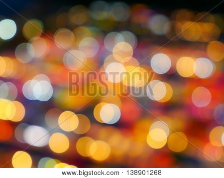 Colorful of blur bokeh background / texture / wallpaper