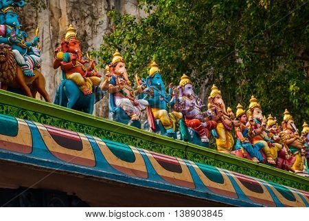 Batu Caves, Statue Lord Murugan. Kuala Lumpur, Malaysia.