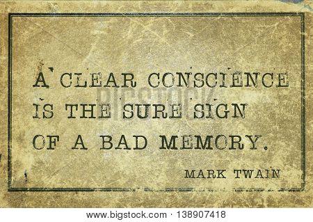 Bad Memory Mtwain