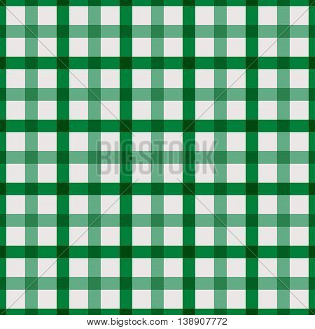 Green checkered shirt. Seamless pattern. Kitchen cloth