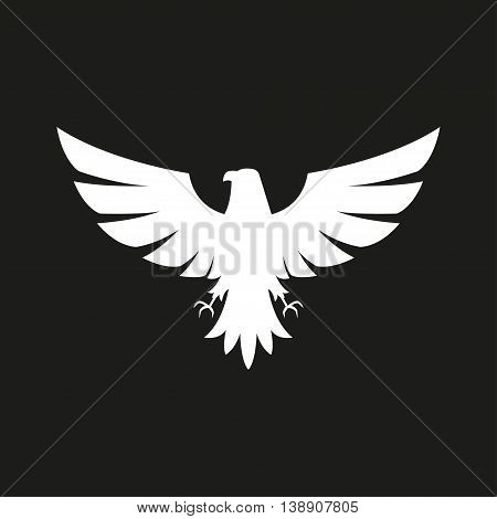 Illustration of eagle Icon isolated on a black background