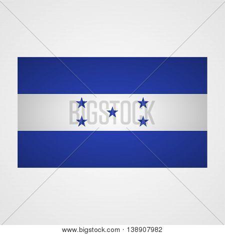 Honduras flag on a gray background. Vector illustration