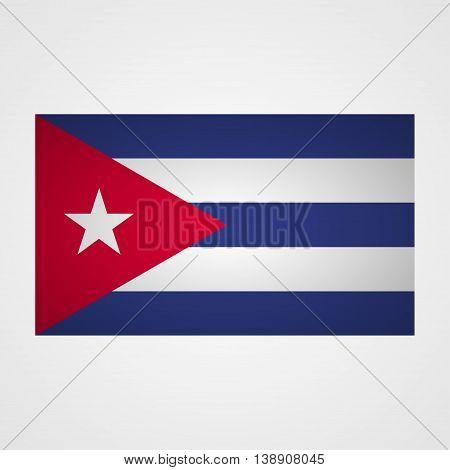 Cuba flag on a gray background. Vector illustration