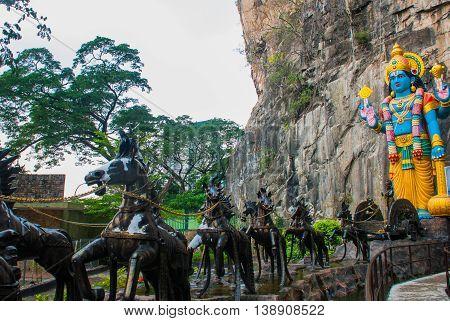 Batu Caves. Ramayana Cave. Kuala Lumpur, Malaysia